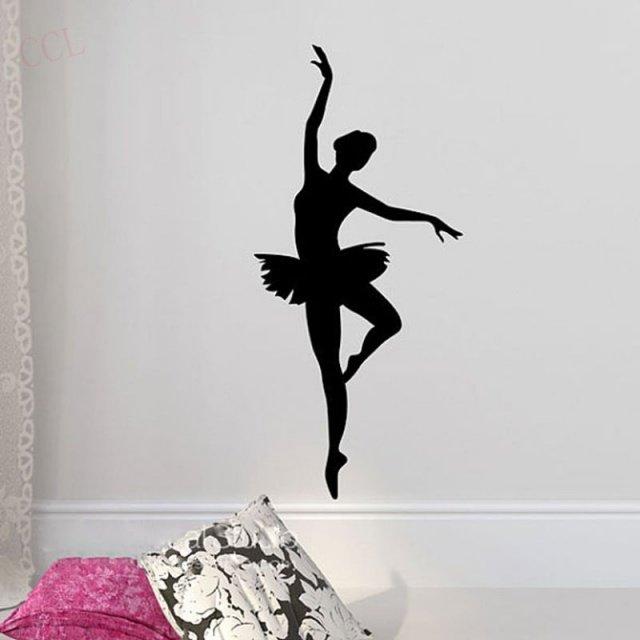 Ballerina Wall Sticker – Ballet Dancer Wall Decal – Ballerina Decor – Ballet Silhouette Girls Dance Decal