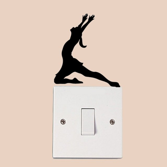 Ballet Dancer Fashion Home Room Wall Stickers Vinyl Switch Decals 6SS0083