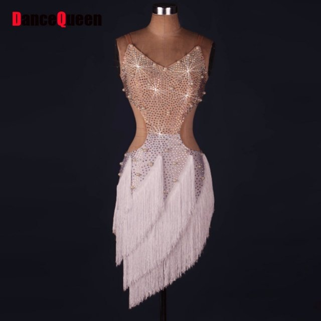2017 Hot Sex Stage Women Lady Latin Dance Dresses More Color Tassel Costume Made Performance Party Samba Roupa Infantil Feminina