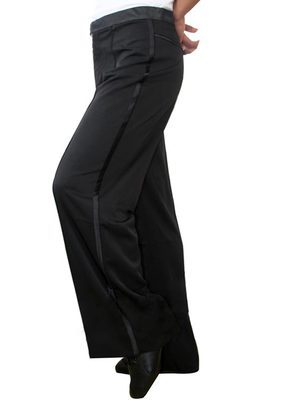 2017 New Arrival Men Jazz/Latin Dance trousers Pants Black Mens Ballroom Dance Pants Dance Wear Practice/Performance 2 models