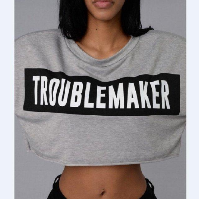 Midriff-baring Letter Printed Hoodies Womens Cropped Hoodie Sweatshirt Tops Ladies Hooded Sweatshirt Pullover Jumper Coat