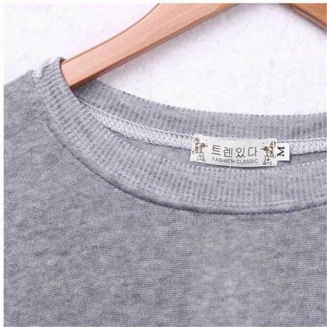 2017 Autunm Fashion Hoodies Harajuku Women Casual Long Sleeve Hoodie Jumper Pullover Sweatshirt Tops Shirt Sudaderas Mujer