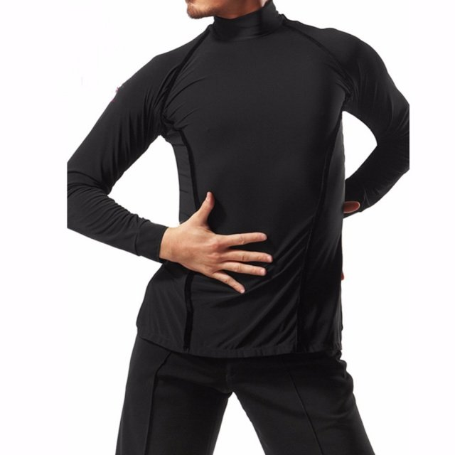 Sexy Latin Dancing Shirt For Males White Black Cotton New Design Tops Clothes Men Professional Arena Presentation Clothing 6070