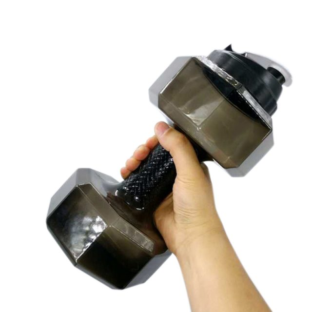 2.2L Dumbbell Water Bottle PETG Eco-friendly Sports Fitness Water Jug for Gym Yoga Running Cycling